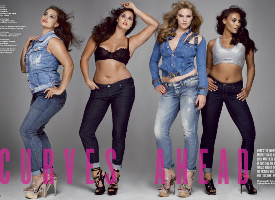 "Several magazines have recently featured ""plus-size"" or ""real"" models who ..."